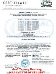 jual tepung kentang_sertifikat halal