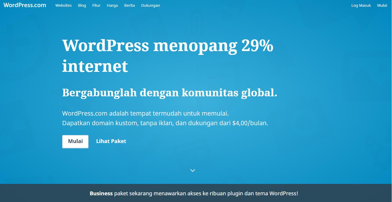 Membuat Toko Online Gratis Dengan WordPress