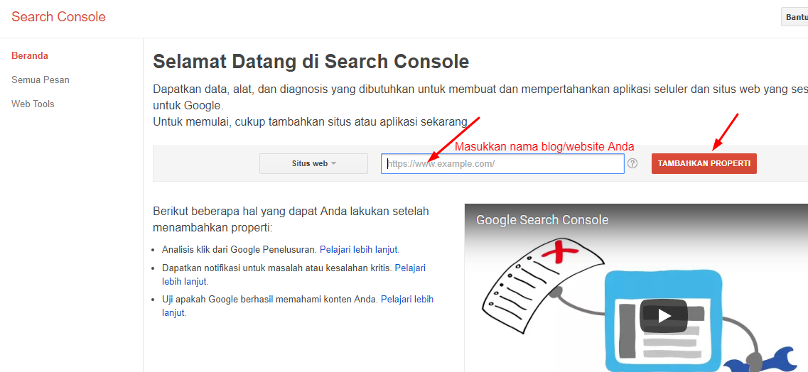Cara Verifikasi Website WordPress Di Google